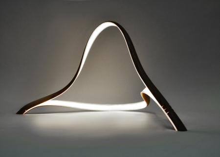 柔美的木工台灯  2