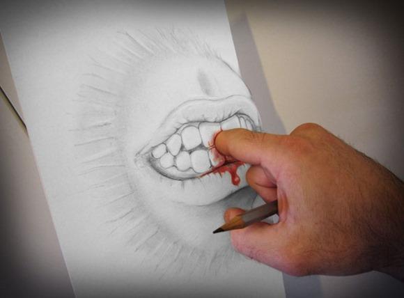 铅笔画出来的3D效果