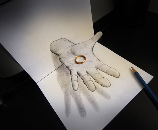 意大利艺术家 Alessandro Diddi 通过绘图、光、阴影,将现实与虚拟相结合的完美插图。 2