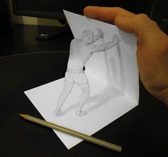 意大利艺术家 Alessandro Diddi 通过绘图、光、阴影,将现实与虚拟相结合的完美插图。 5