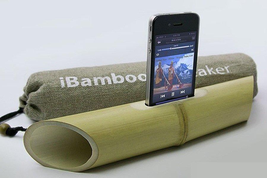 2012年十大有趣的发明 竹筒iphone扬声器